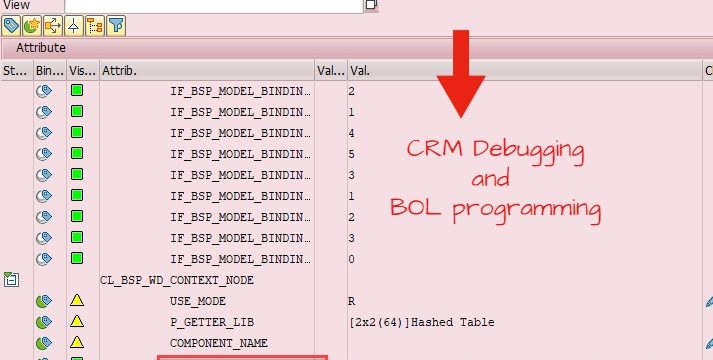 CRM Debugging and BOL Programming to read & populate values